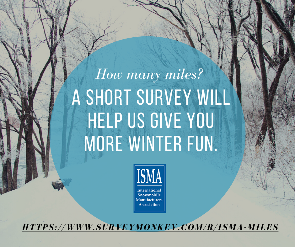 Snowmobile survey graphic for Facebook